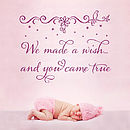 'We Made A Wish' Nursery Wall Quote Sticker