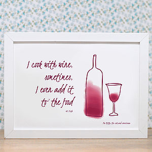 Wine And Quotation Print