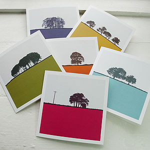 Rural Landscape Greeting Cards Set