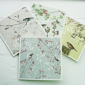 Bird Garden Greeting Cards - mother's day cards