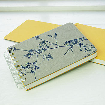 Letterpress Sparrow Notebook