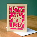 Personalised Lasercut Girl's Birthday Card