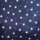 Star Print Intial Bib