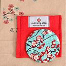 Cherry Blossom Fabric Mirror