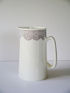 Bone China Lace Jug - table decorations