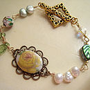 Vintage German Rose Bracelet
