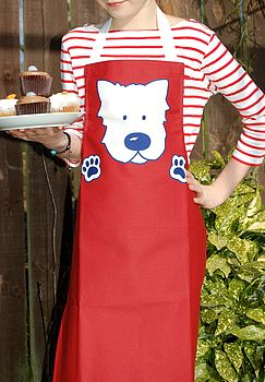 Child's Westie Dog Apron