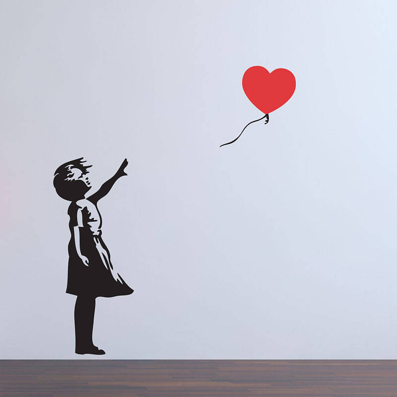 balloon girl banksy wall stickersparkins interiors