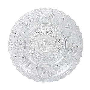 Heart Versaille Glass Dessert Plate - kitchen