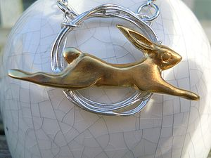 Golden Hare Pendant