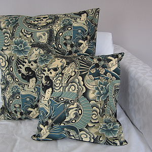 Japanese Tattoo Cushion - living room