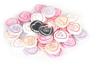 Silver Plated Love Heart - message tokens