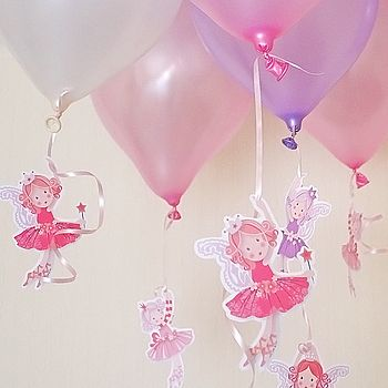 Pack Of Eight Fairy Princess Balloon Hangers