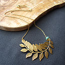 Laurel Curved Leaf Necklace