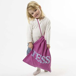 Embroidered Drawstring Bag - bags, purses & wallets