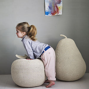 James' Giant Apple Or Pear Pouffe - gifts for children