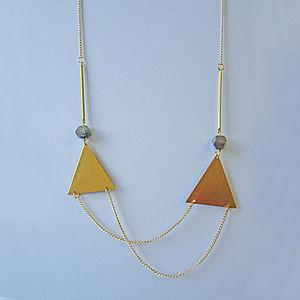 Deianira Double Triangle Necklace