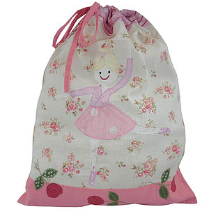 Embroidered Child's Laundry Bags - storage