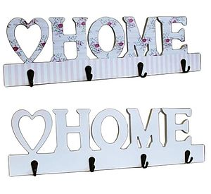 'Home' Shabby Chic Coat Hooks