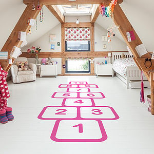 Hopscotch Vinyl Floor Sticker - toys & games