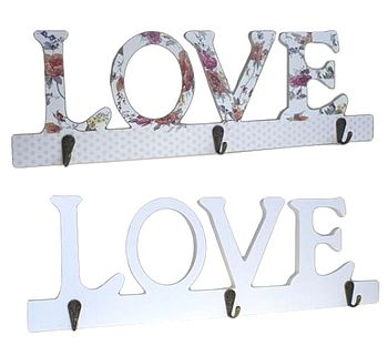 'Love' Shabby Chic Coat Hooks