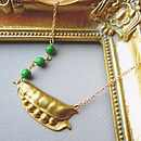 Like Peas In A Pod Peapod Necklace