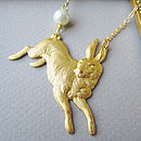Cottontail Hare Necklace