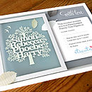 Personalised Family Tree Gift Voucher