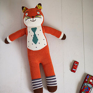 Knitted Friend Socks The Fox - toys & games