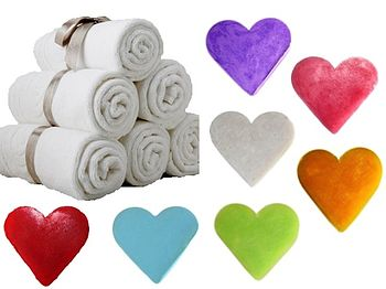 Set Of Six Heart Shaped Guest Soaps