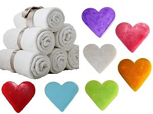 Set Of Six Heart Shaped Guest Soaps - wedding favours