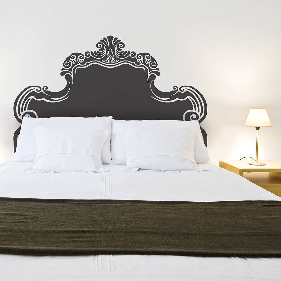 vintage bed headboard wall sticker by oakdene designs. Black Bedroom Furniture Sets. Home Design Ideas