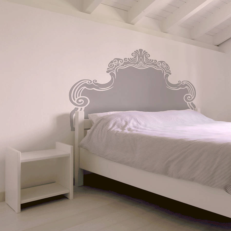 Vintage Bed Headboard Wall Sticker By Oakdene Designs