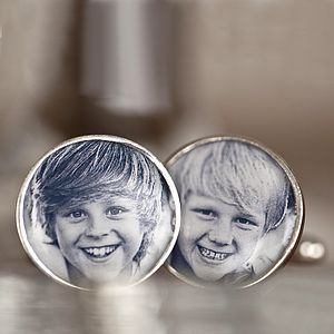 Personalised Photo Cufflinks - jewellery gifts for fathers