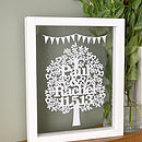 Framed Personalised Love Tree Papercut