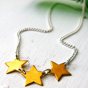 Triple Star Necklace - necklaces & pendants