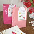 party bags with personalised tags