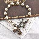 Vintage Style Filigree Pearl Bracelet