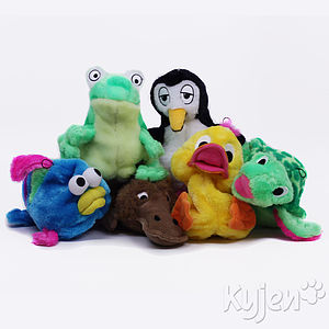 Kyjen Plush Puppies Egg Babies Dog Toy - dogs