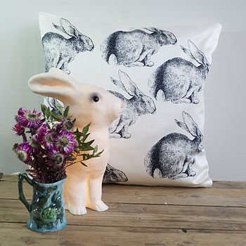 Child's Bunny Rabbit Cushion Navy