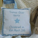 Personalised Blue Star Christening Gift