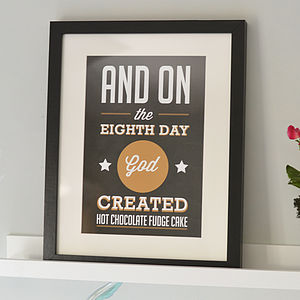 'And On The Eighth Day' Print