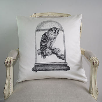 Owl In Alcove Cushion