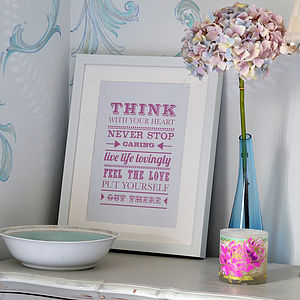 Think With Your Heart Print - pictures, prints & paintings