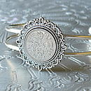 50th Or 60th Birthday Sixpence Bracelet