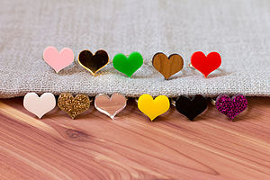 Colourful Heart Ring - women's jewellery