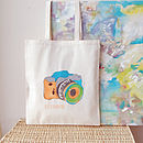 Personalised Camera Shopper Bag