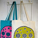 Floral Trio Screen Printed Tote Bag