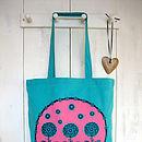 Floral Trio Screen Printed Tote Bag