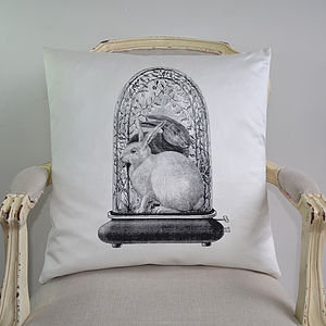 Rabbits In Dome Cushion